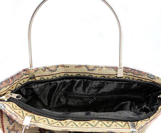 Летняя тканевая сумка с вышитым принтом 0067-2, фото 2