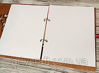 Фотоальбом в деревянной обложке с гравировкой (№8) (красное дерево), фото 4