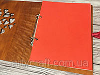 Фотоальбом в деревянной обложке с гравировкой (№8) (красное дерево), фото 3