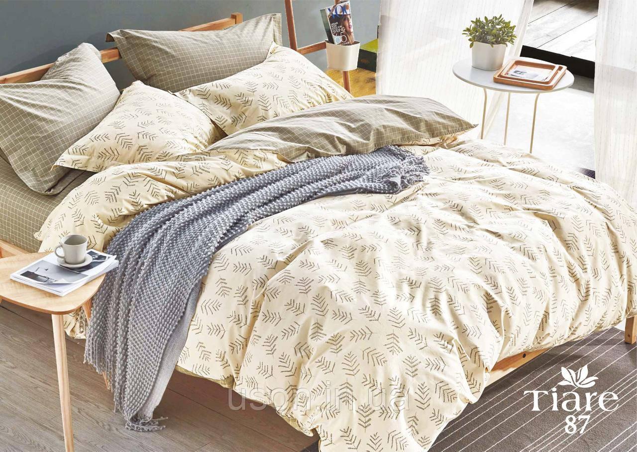 Комплект постельного белья сатин люкс Тиара евро размер 87