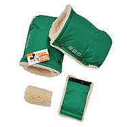 """Детский зимний конверт чехол на овчине с рукавичками и бахилами """"For kids"""" Maxi зеленый, фото 4"""