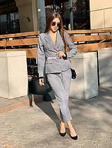 Стильный костюм двойка пиджак с манжетом и брюки /гусиная лапка, 42-46, ft-455/, фото 2
