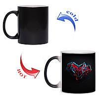 Чашка хамелеон Сердце супергероя 330мл