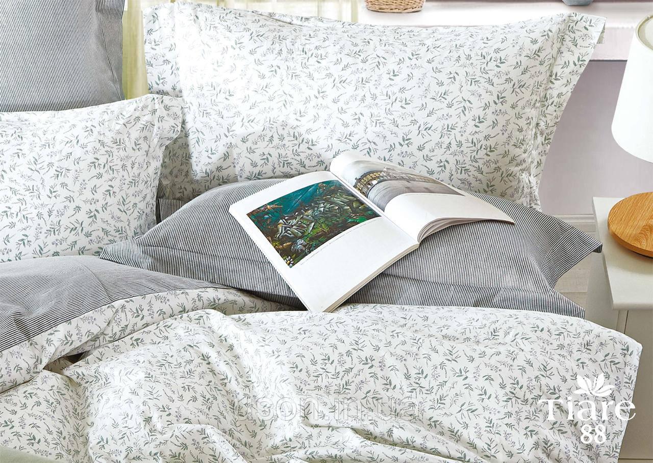Комплект постельного белья сатин люкс Тиара евро размер 88