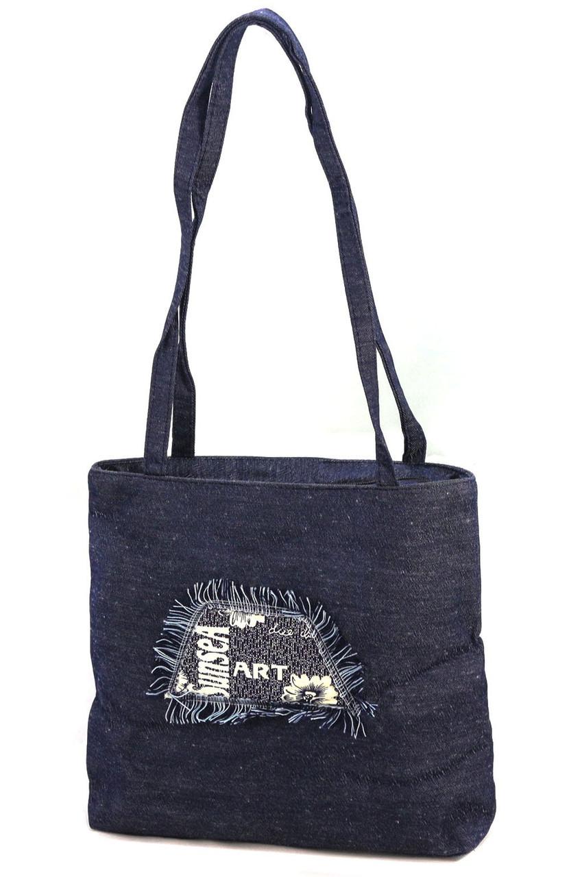 Легкая летняя джинсовая сумка 0033
