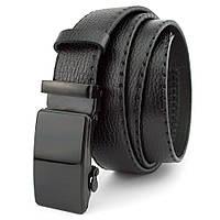 Ремень мужской кожаный JK-3515 black (3,5 см)