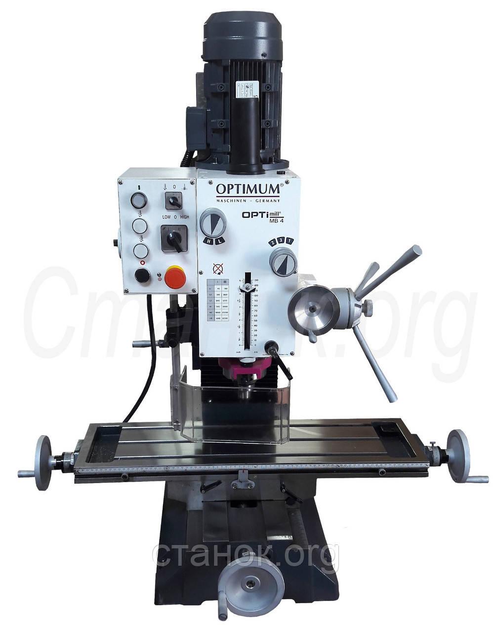 OPTImill MB 4 фрезерный станок по металлу фрезерний верстат Optimum резьбонарезной оптимум мб 4