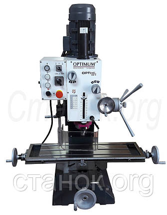 OPTImill MB 4 фрезерный станок по металлу фрезерний верстат Optimum резьбонарезной оптимум мб 4, фото 2