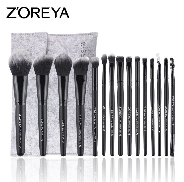 Набор кистей для макияжа 15шт Zoreya pride