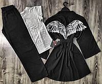Женский комплект, халат и брючная пижама