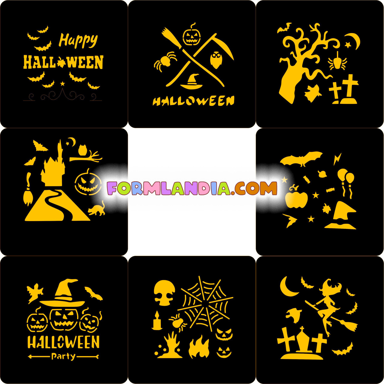 Набор Трафаретов для пряников Хэллоуин №16