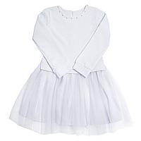 Нарядное детское платье р. 98-122 белый для девочки