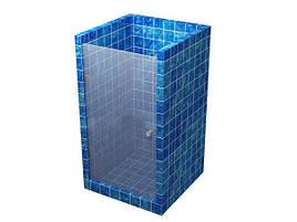 Стеклянная дверь в прозрачная, под проем 2100*890 мм