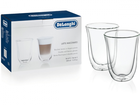 Набор стаканов Delonghi Latte Macchiato 220 мл (2 шт)