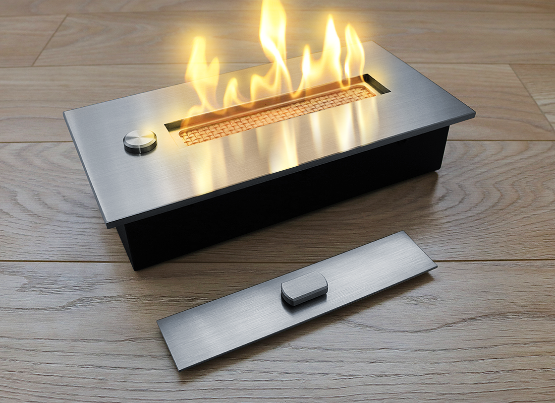 Топливный блок со стеклом Gloss Fire Алаид Style 400-С2-100