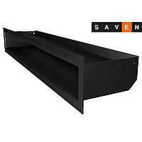 Вентиляционная решетка для камина SAVEN Loft 90х600 черная