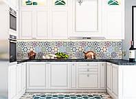 "Наклейки кухонный фартук  Zatarga ""Орнамент 03 "" 600х2500 мм зеленый"