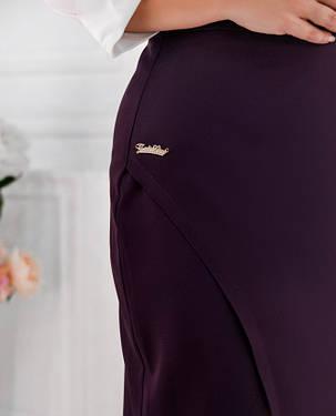 Длинная женская юбка с разрезом  Размеры от 50 до 56, фото 2