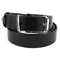 СКИДКА! Ремень мужской /детский кожаный черный JK-3525 (85 см), фото 1