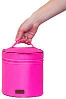 Круглый органайзер для косметики Organize K009 розовый R176376