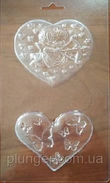Форма пластиковая для шоколада Сердца