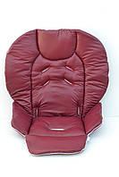 Чехол на стульчик для кормления Chicco Polly 2 в 1 под экокожу бордовый, фото 1
