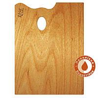 Палитра деревянная, прямоугольная, эргономичная, промасленная, 25 * 35см, ROSA