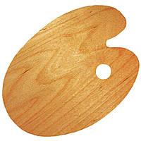 Палитра деревянная, овальная, эргономичная, промасленная, 25х35см, ROSA Gallery