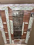 Двери входные 1200 металлопластиковые с окном и ковкой двери с двух сторон цветной, фото 4