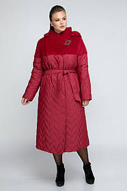 Новинка! Зимнее пальто с ангорой  Большие размеры 48-58