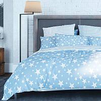 """Комплект постельного белья ТЕП™  """"Star Blue 014"""" 150х215см  Ранфорс, фото 1"""