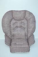 Чехол на стульчик для кормления Chicco Polly 2 в 1 под коричневый джинс, фото 1