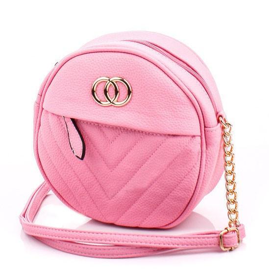 Женская круглая сумка из кожзама PINK FANTACY MOOD
