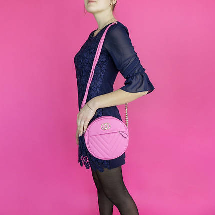 Женская круглая сумка из кожзама PINK FANTACY MOOD, фото 2