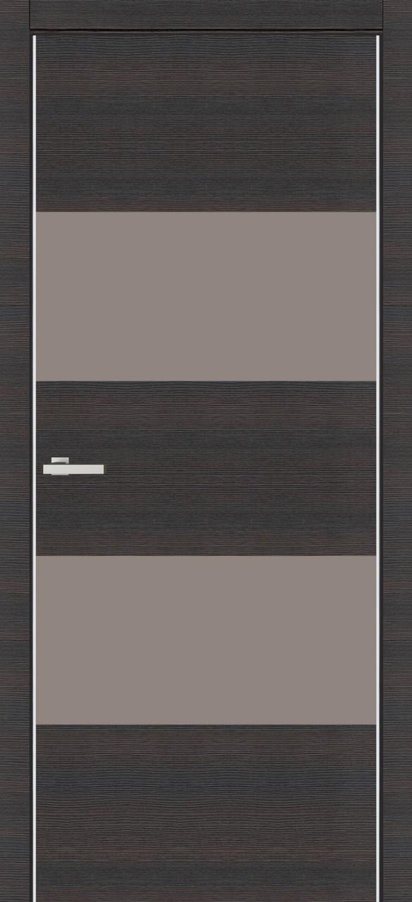 Дверь межкомнатная Омис Cortex Alumo 04 graphite wenge line