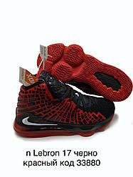 Nike Lebron 17 игровые баскетбольные кроссовки черно-красного цвета