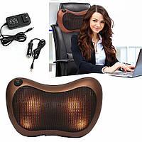 Массажная подушка в автомобиль SmartLife  Massage pillow спины и шеи с инфракрасным подогревом