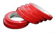 Скотч упаковочный красный, клейкая лента  9мм х 66ярд х 45мкм