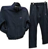 Очень теплый мужской спортивный костюм Sporaf трикотажный с эмблемой Синий