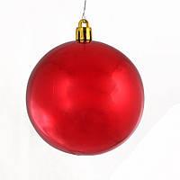Шар на елку красный Новогодько d-8 973195