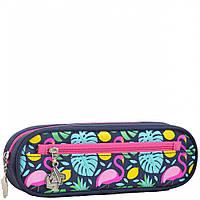 Мягкий пенал YES 7х19х4 см для девочек Flamingo (531834)