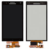 Дисплей + touchscreen (сенсор) для Sony Xperia S LT26i, оригинал (черный)