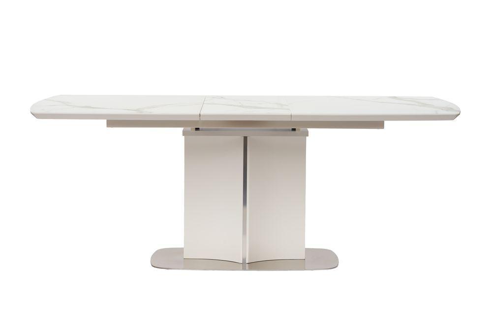 Раздвижной стол  ALBURY (Олбери) белый 160/220 под мрамор от Сoncepto