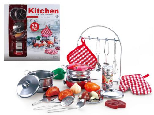 Большой комплект детской кухонной посуды Shantou Jinxing 555-BX010 (25 элементов)