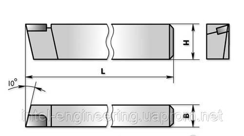 Резцы проходные упорные тип 1 (прямые) ГОСТ 18879-73