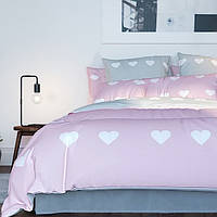"""Постельное белье полуторное ТЕП """"Pink Love Hearts """" Ранфорс, фото 1"""