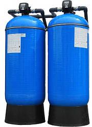 Фильтр натрий-катионирования AFS 2162 Duplex с автоматическим клапаном управления Clack CI на 10 м³/ч