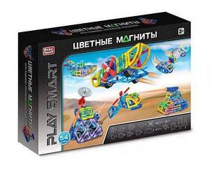 """Магнітний конструктор Play Smart 2429 """"Кольорові магніти"""", 54 деталей"""