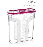 Контейнер для хранения сыпучих продуктов 2,9 л (цвет уточняйте у менеджера) 220x88x242 мм Турция