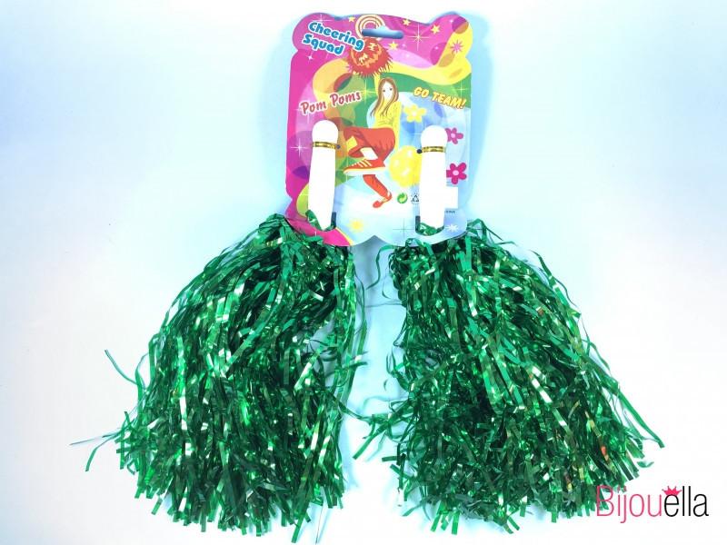 Помпоны для черлидинга зеленые, упаковка, 12шт.